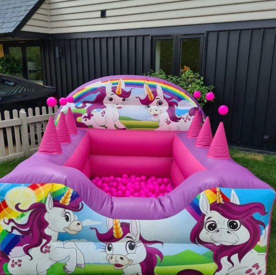 unicorn themed ball pit