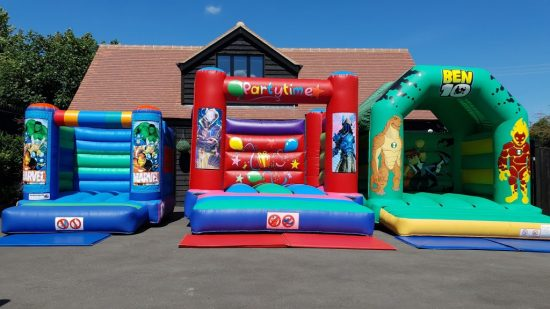 Action themed bouncy castles