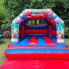 Marvel-themed bouncy castle