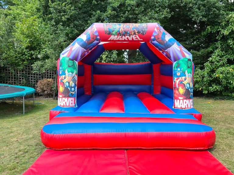 Marvel-themed bouncy castle