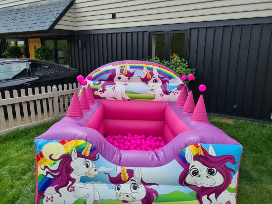 unicorn themed ball pit