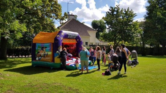 outdoor bouncy castle hire