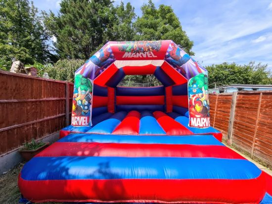 Marvel themed bouncy castle