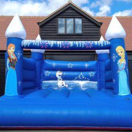Frozen themed castle