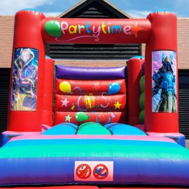 Changeable themed bouncy castle